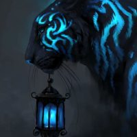 Blue Tiger Art - How Luminescent Are You?